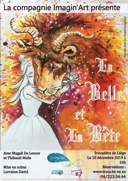 Affiche - La Belle et La Bête - DinA2